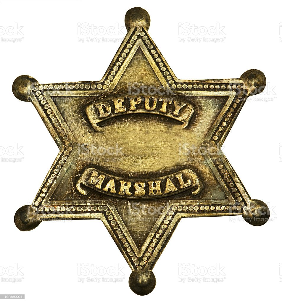 Authentic Deputy Marshall Badge stock photo