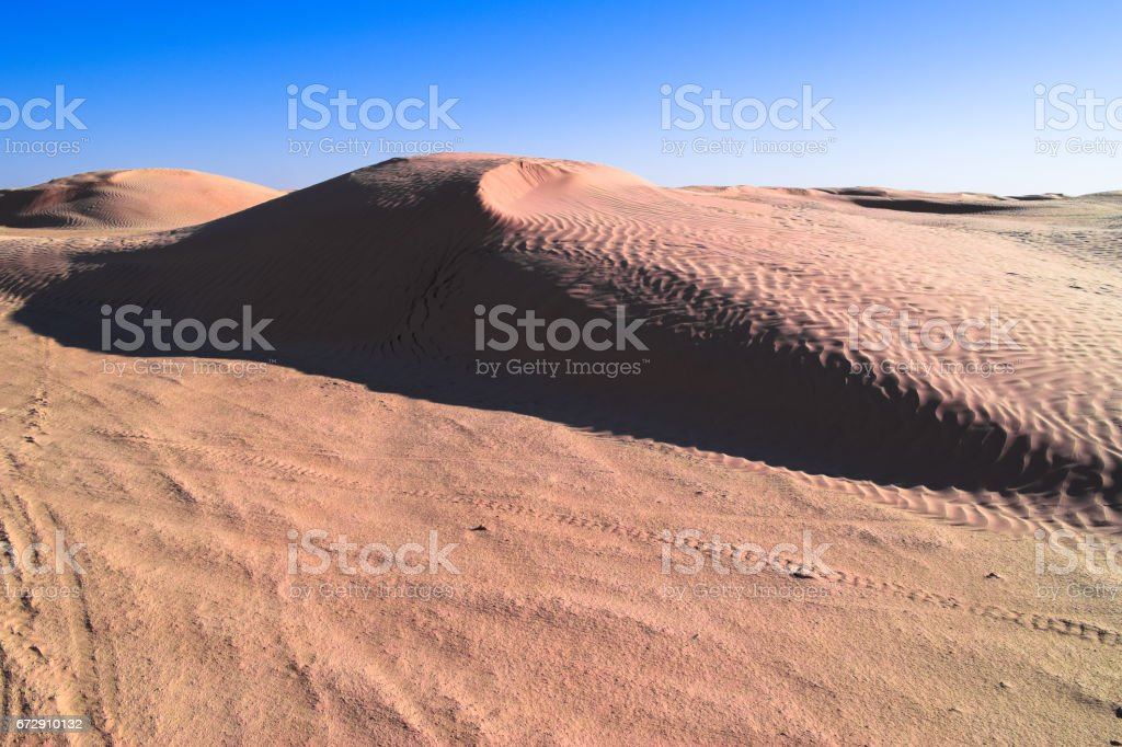 Authentic desert under the hot sun. Landscape of Sahara stock photo