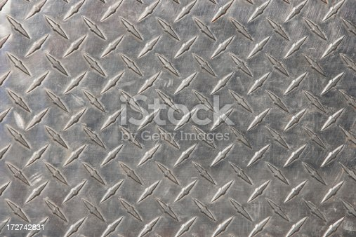 scratched and dirty diamond plate background.