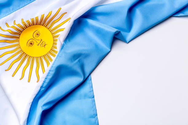 Authentic flag of the Argentina Flag collection Argentina stock pictures, royalty-free photos & images