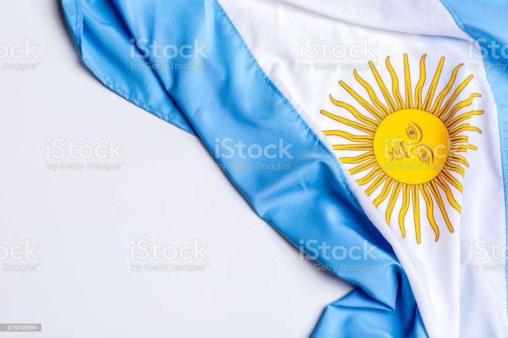 Auténtica bandera de la Argentina - foto de stock