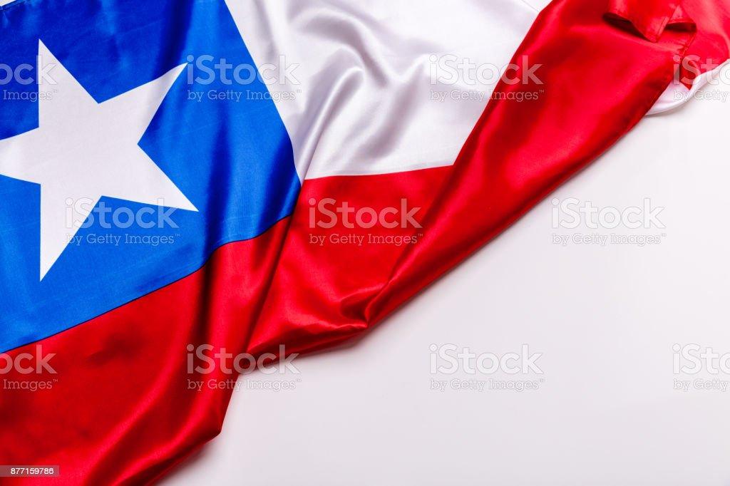 Autêntica bandeira do Chile - foto de acervo