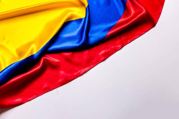 bandera auténtica de la colombia - bandera colombiana fotografías e imágenes de stock