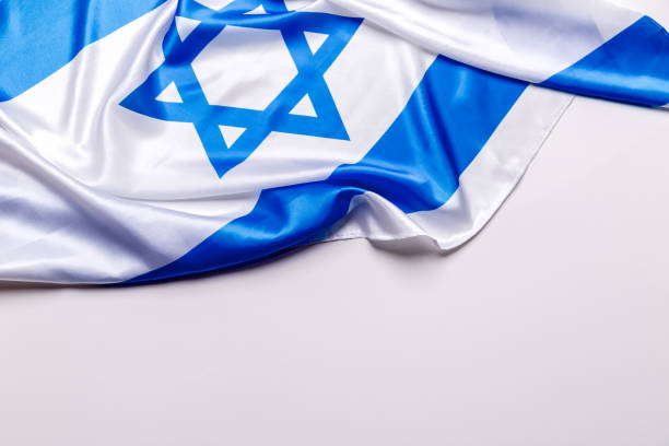 authentische flagge israels - israel stock-fotos und bilder