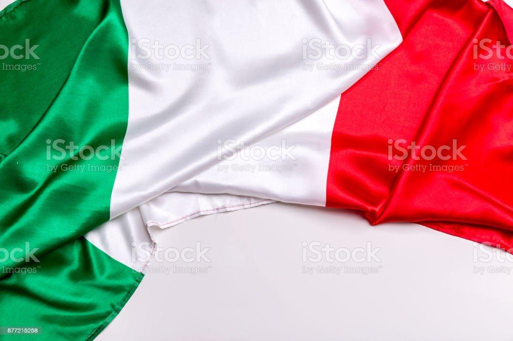 Auténtica bandera de Italia - foto de stock