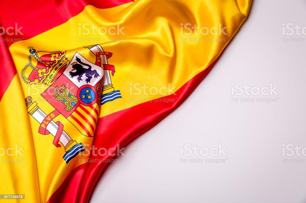 Autêntica bandeira da Espanha - foto de acervo