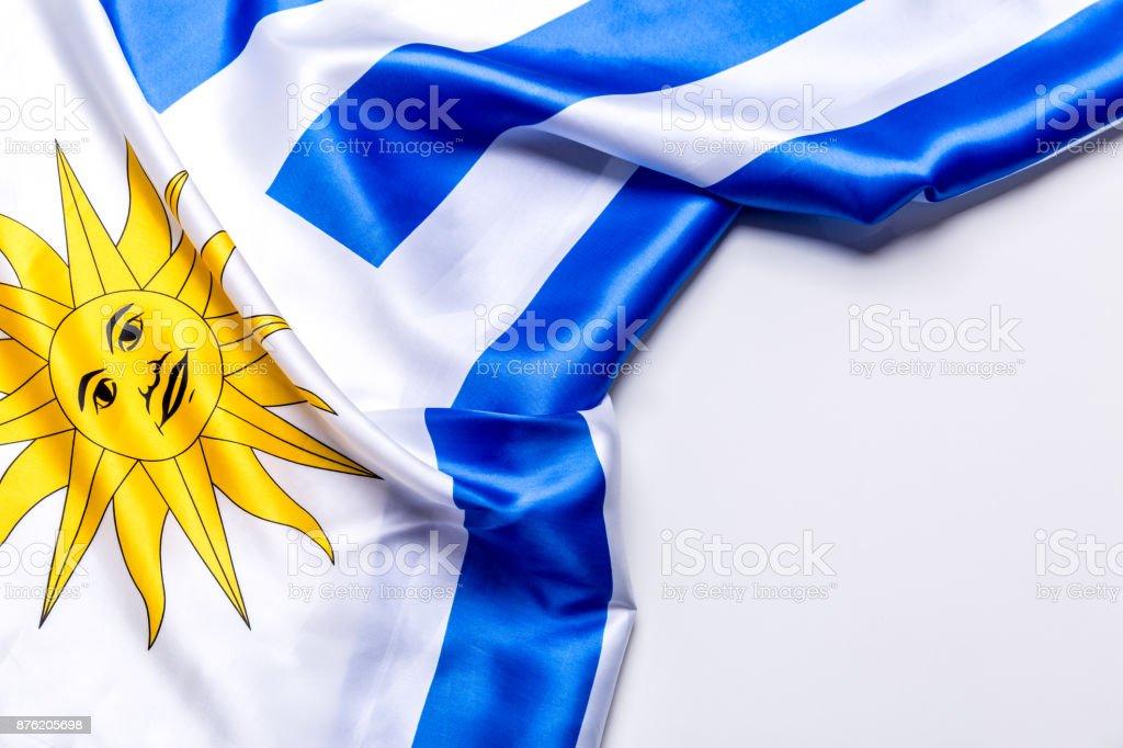 Auténtica bandera de Uruguay - foto de stock