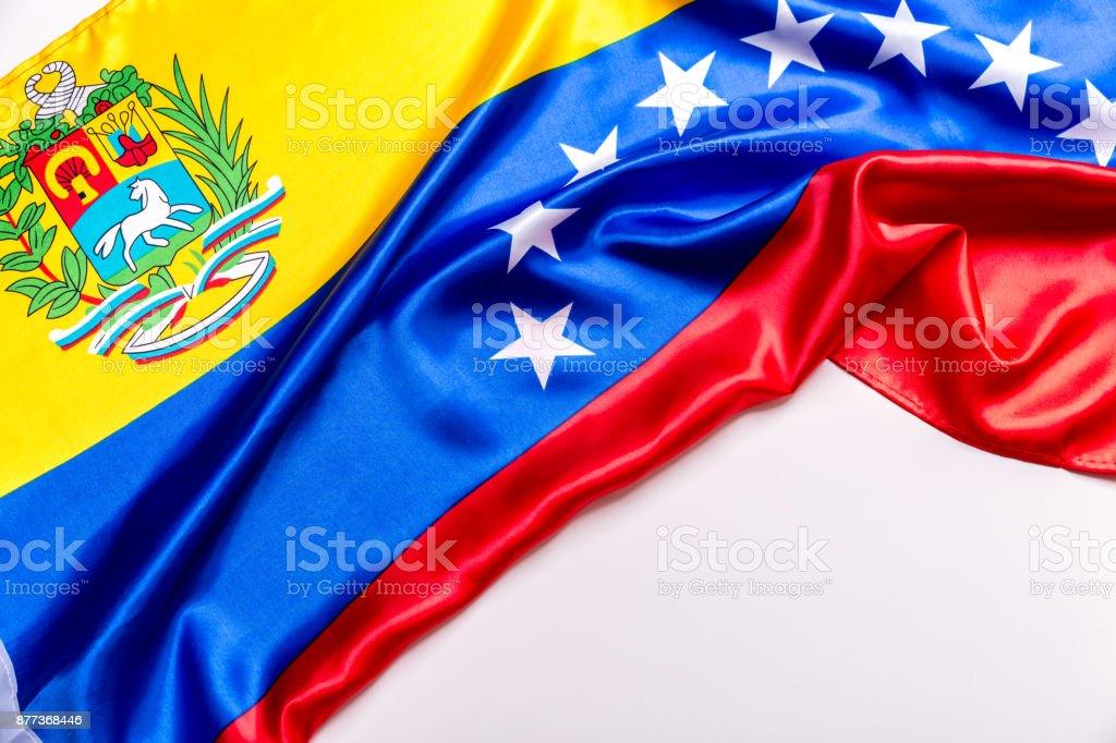 Auténtica bandera de la Venezuela - foto de stock