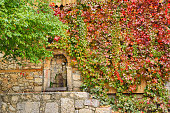 A historic fountain among leaves in Apcaaga village, Kemaliye Erzincan