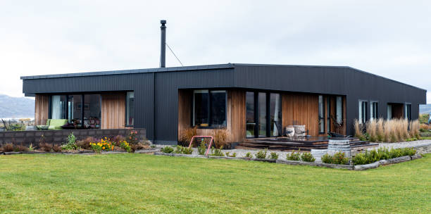 Authentic house in central otago stock photo