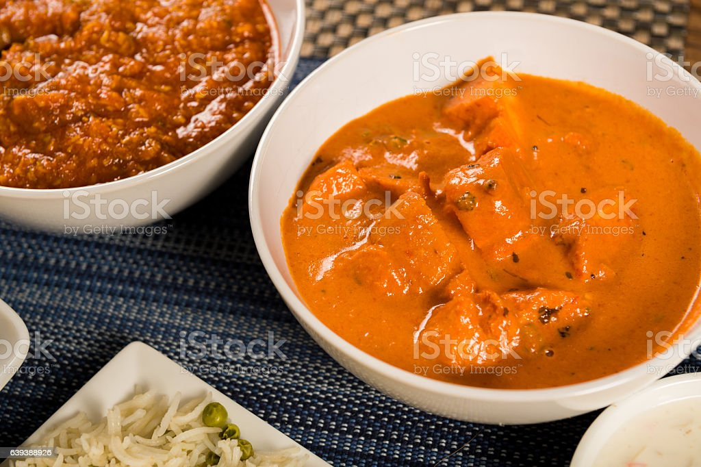Authentic Indian Food stock photo