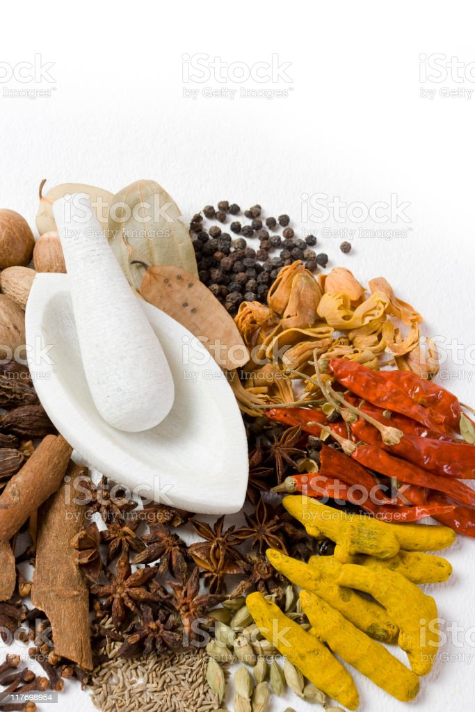 Authentic Indian Spices...series royalty-free stock photo