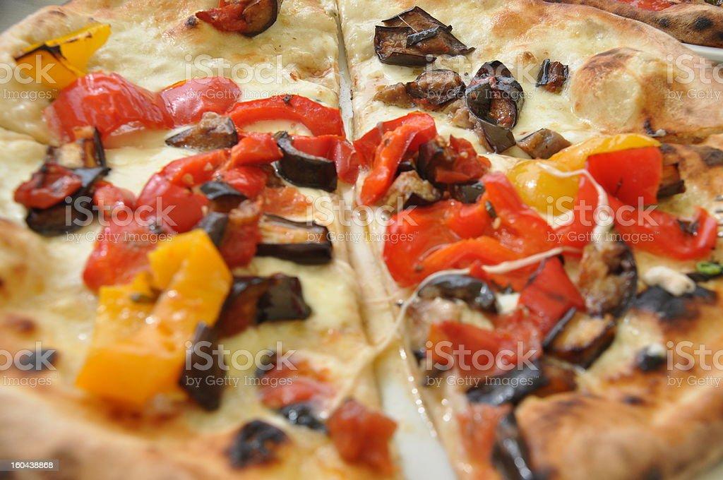 Authentic Italian Ortolana Pizza stock photo