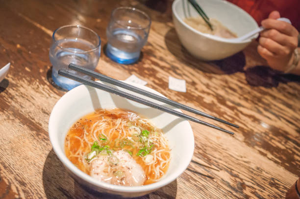 Authentic local ramen street food in Japan stock photo