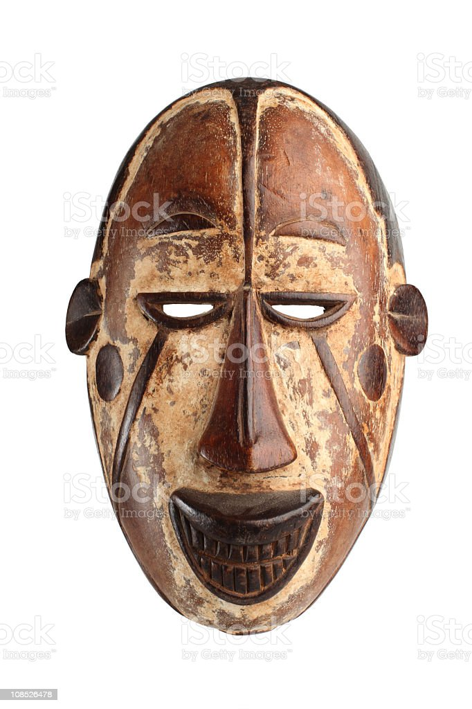 Authentic mask from africa stock photo