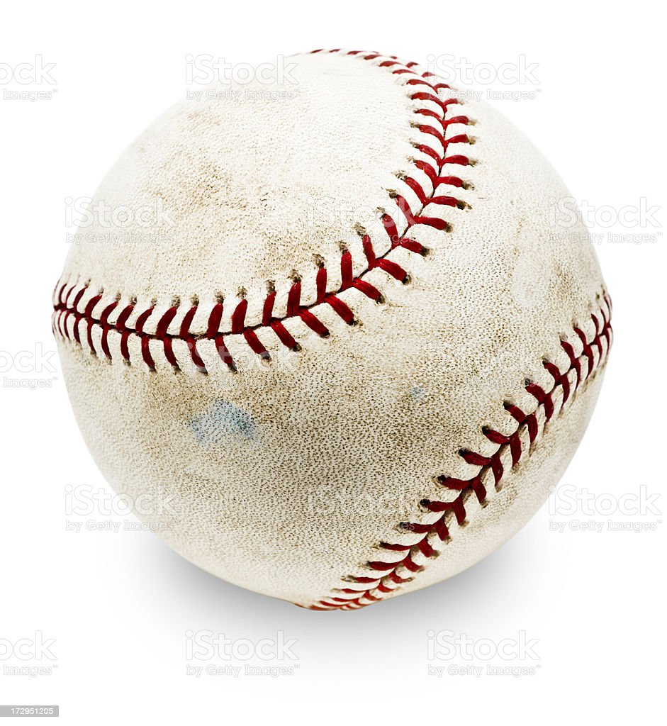 Authentic MLB Baseball (with Clipping Path) http://i152.photobucket.com/albums/s173/ranplett/grunge_banner.jpg Bad Condition Stock Photo