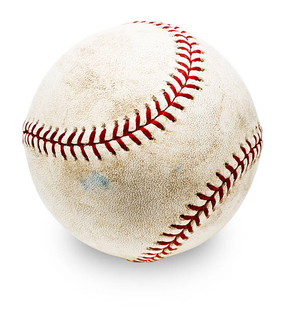 Authentic MLB Baseball (with Clipping Path) stock photo