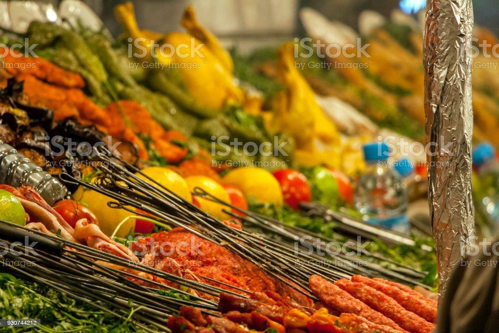 Authentic Moroccan cuisine stock photo