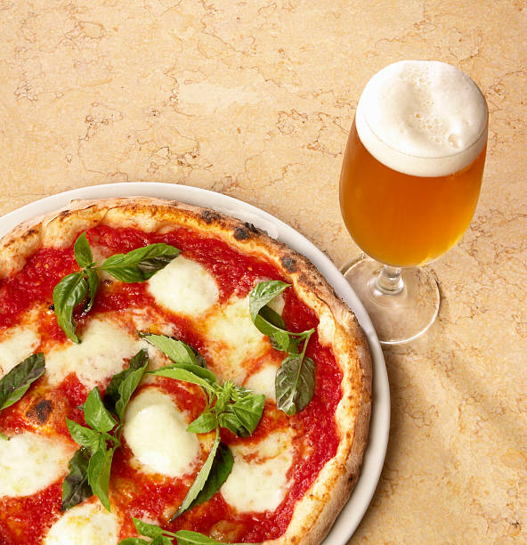 Authentic Neapolitan Pizza Margharita stock photo