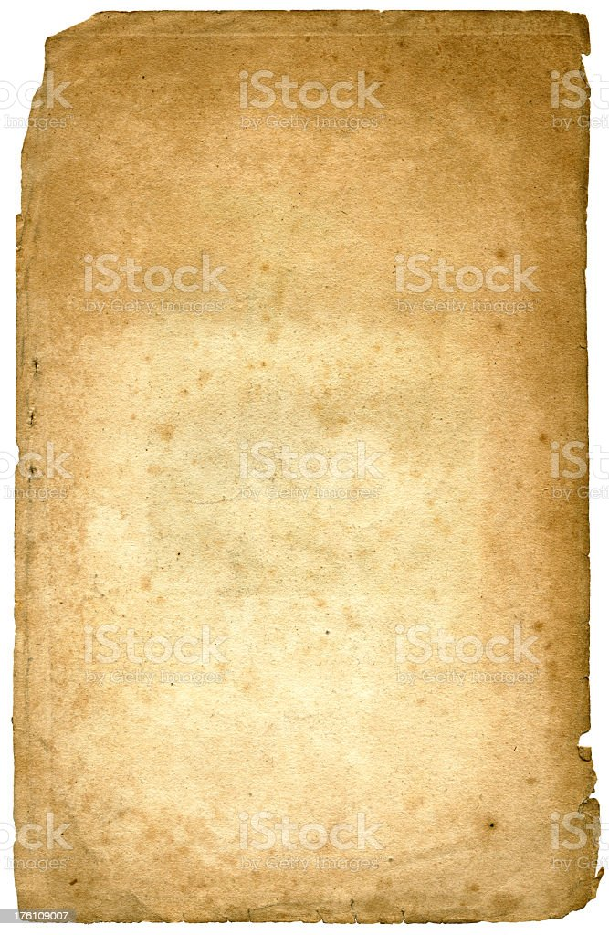 Authentic old paper royalty-free stock photo