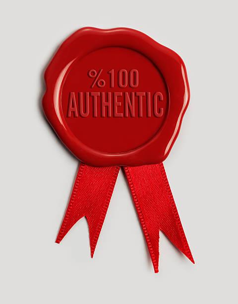 %100 authentic stamp - bandanzeige stock-fotos und bilder