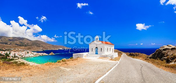 istock Authentic traditional Greece - tranquil Andros island, Cyclades 1131676317