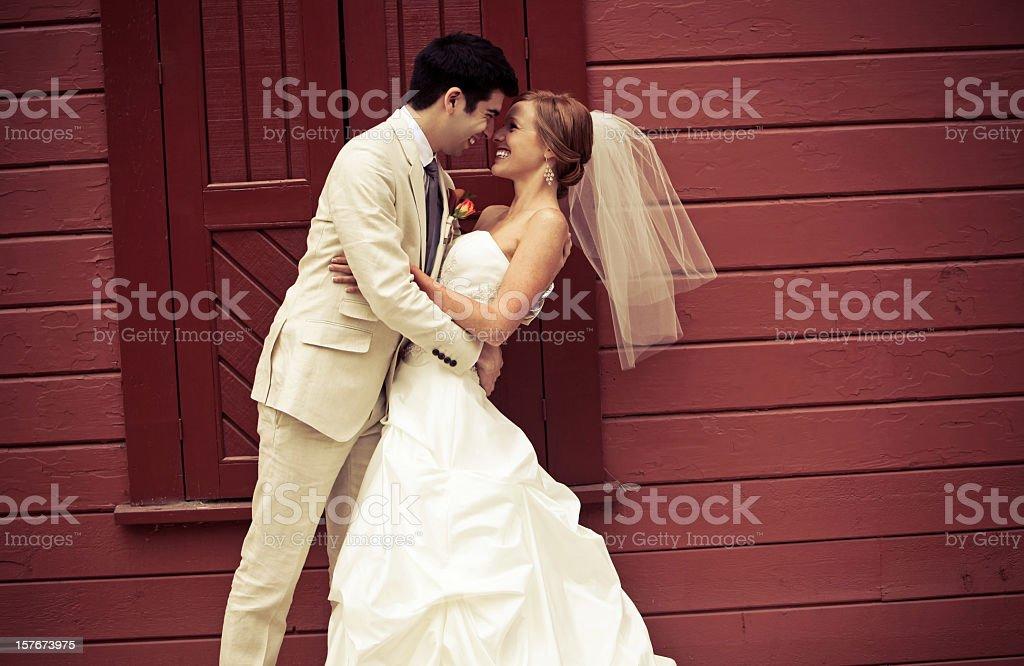 authentic wedding portraits royalty-free stock photo
