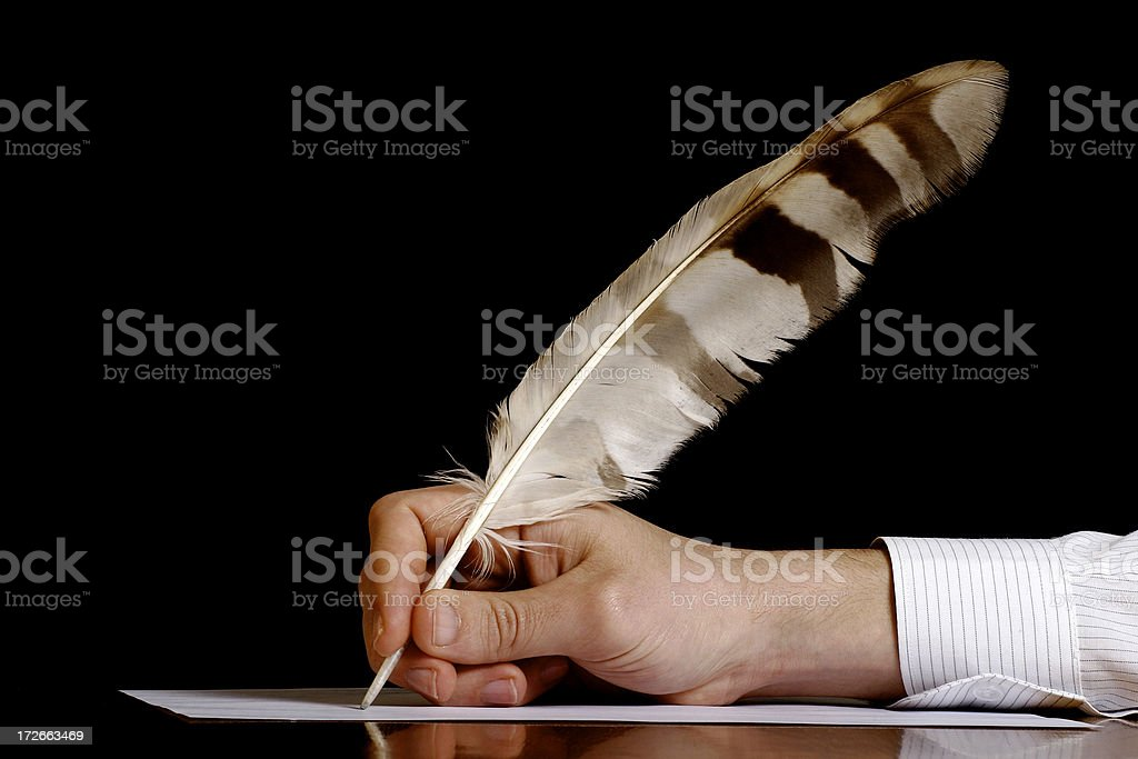 Author at work royalty-free stock photo