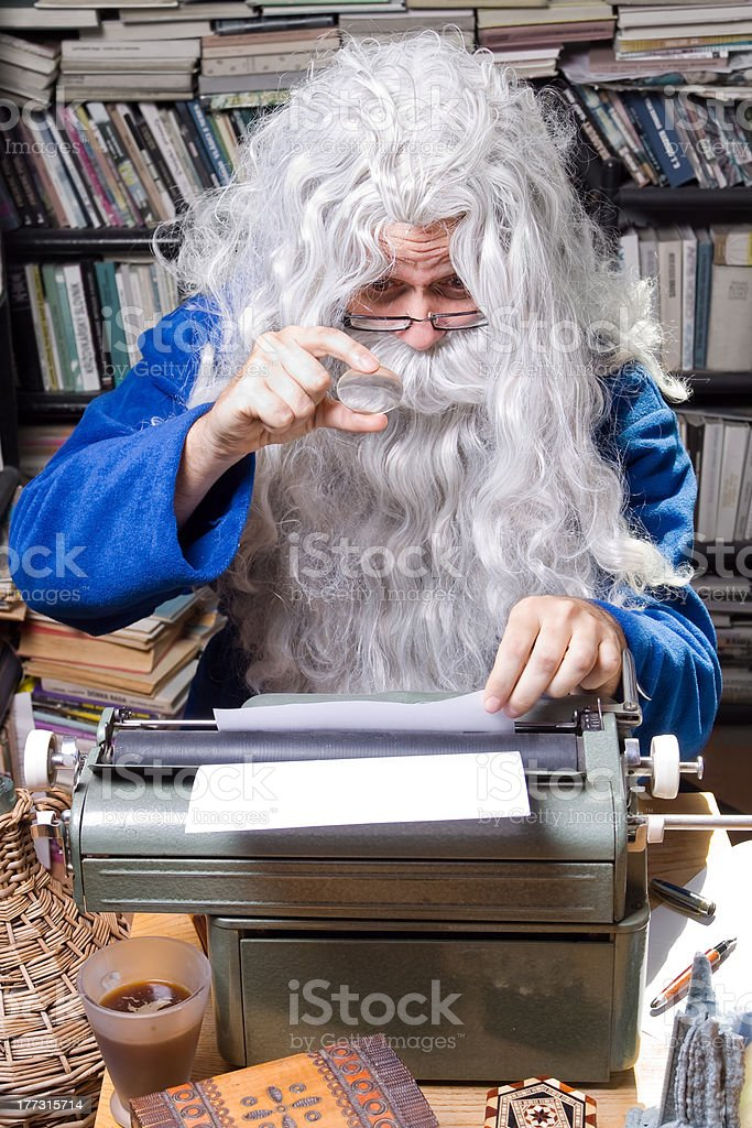 Author senior stock photo