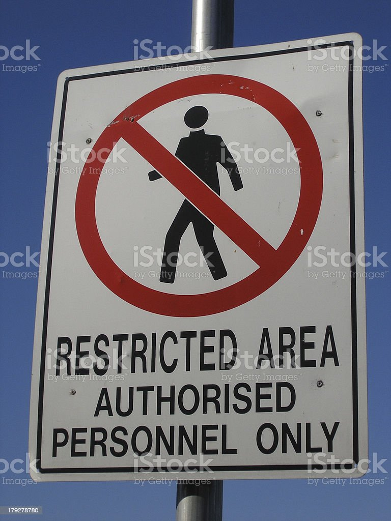 Authorised Personnel Only royalty-free stock photo