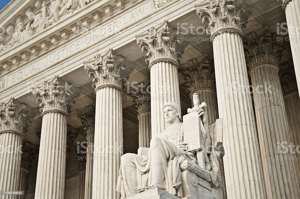 Authority of Law Statue (US Supreme Court) royalty-free stock photo