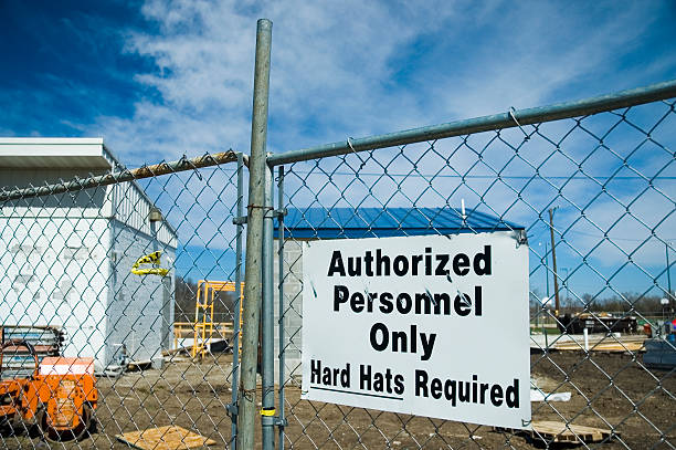 Authorized Personnel stock photo