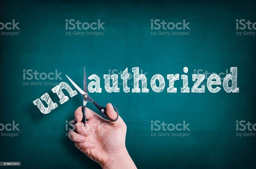 Authorized stock photo