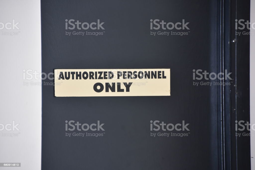Authorized professionals Only stock photo