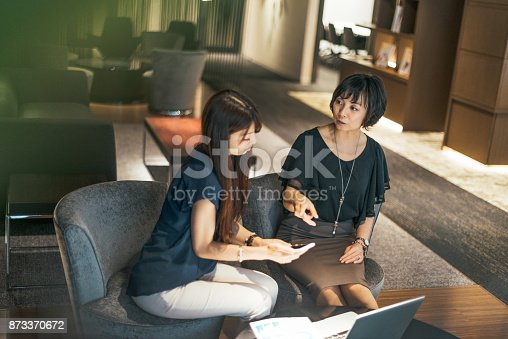 istock Authorized representative form Japanese inusrance company visiting client at home 873370672