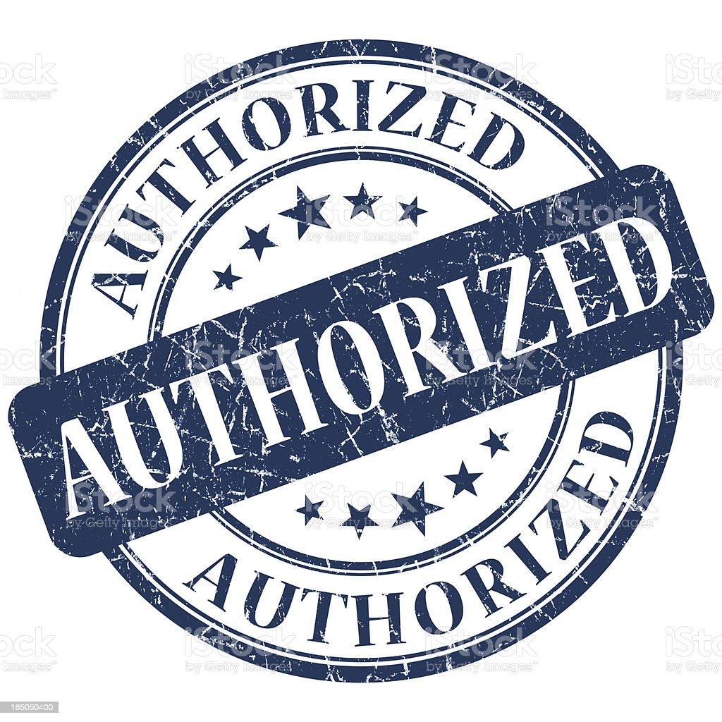 authorized round blue stamp royalty-free stock photo