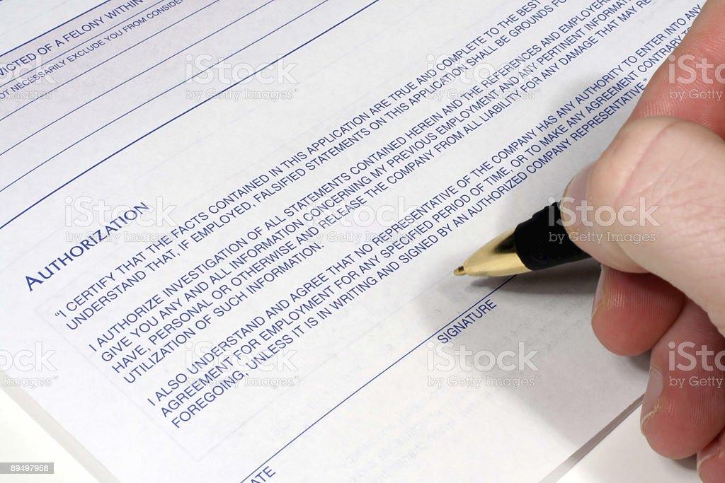 Podpis osoby upoważnionej zbiór zdjęć royalty-free