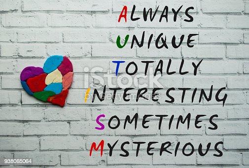 istock Autism awareness concept. 938065064