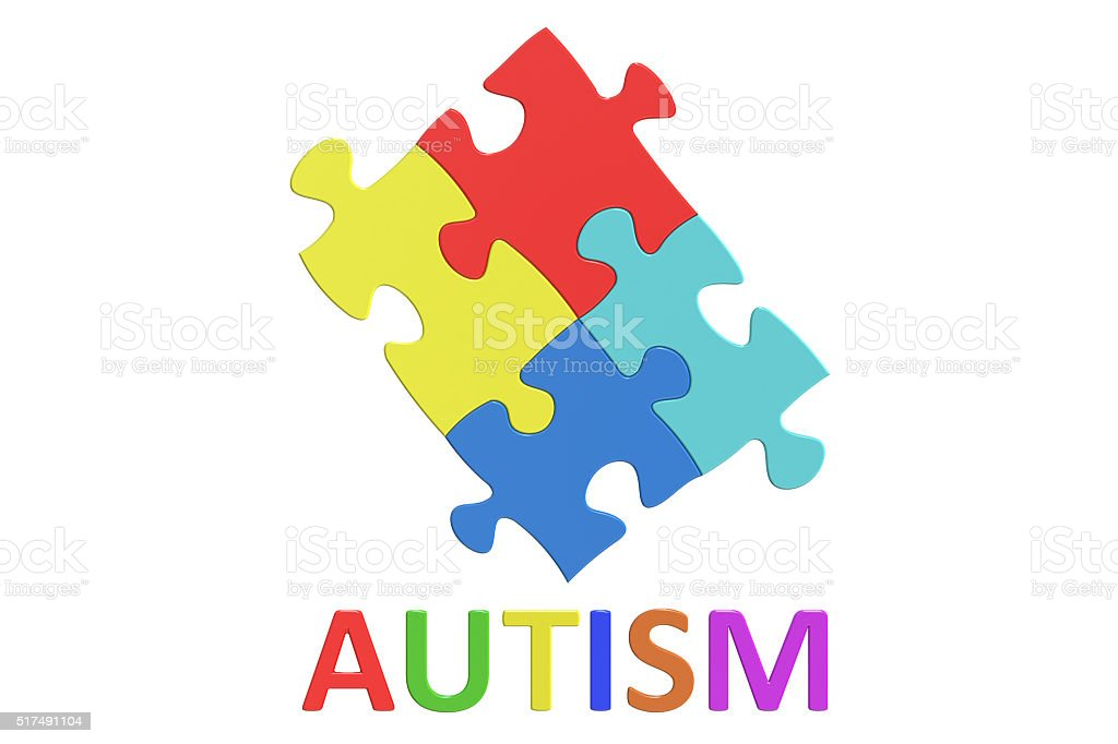 Autism Awareness Day concept, 3D rendering stock photo