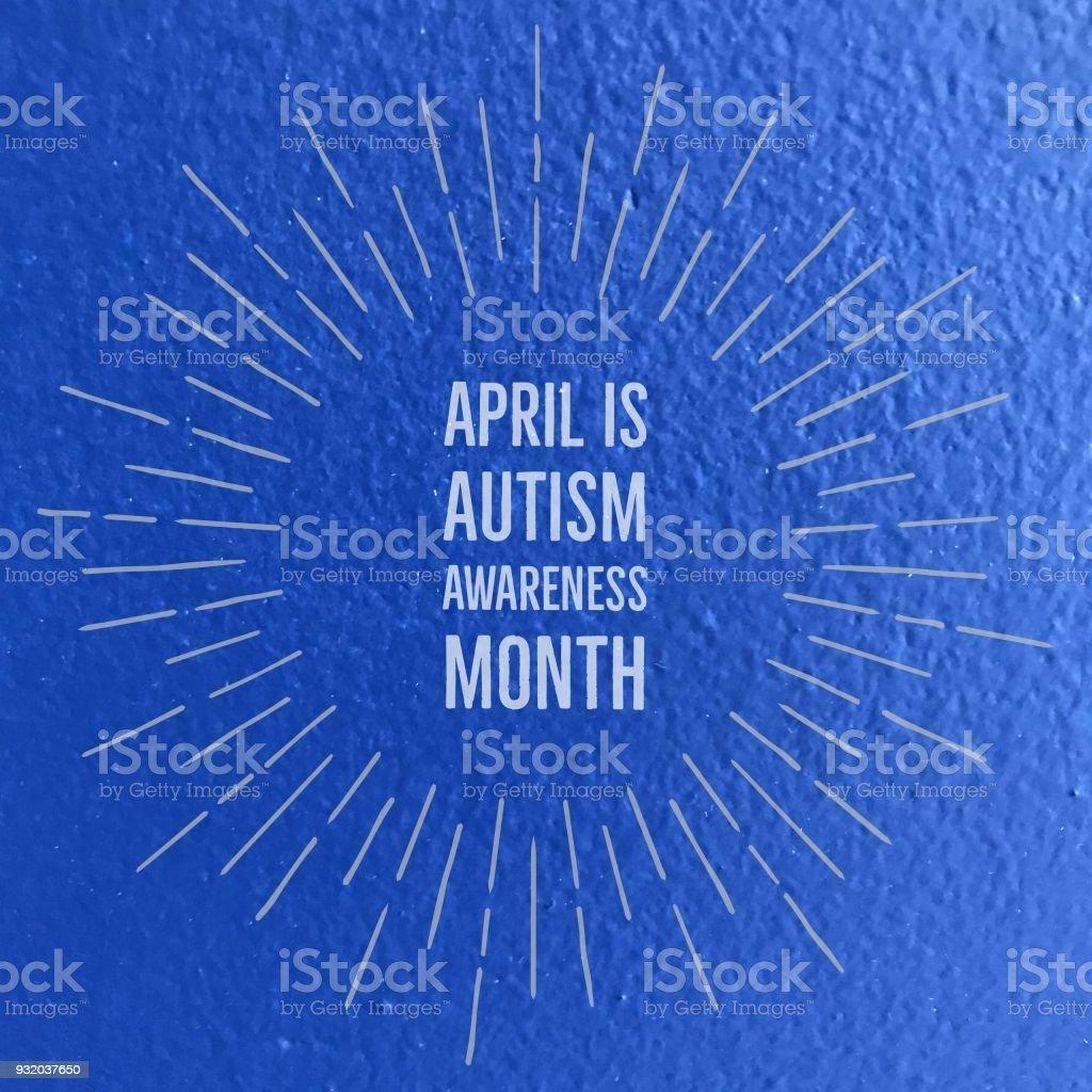 Autism awareness month stock photo