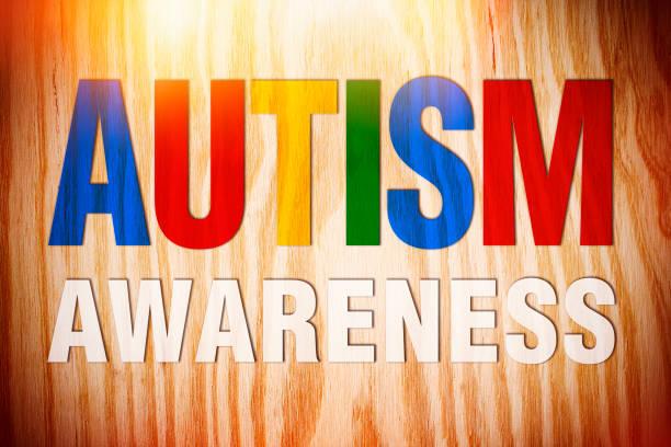 autismus-bewusstsein - autismus stock-fotos und bilder