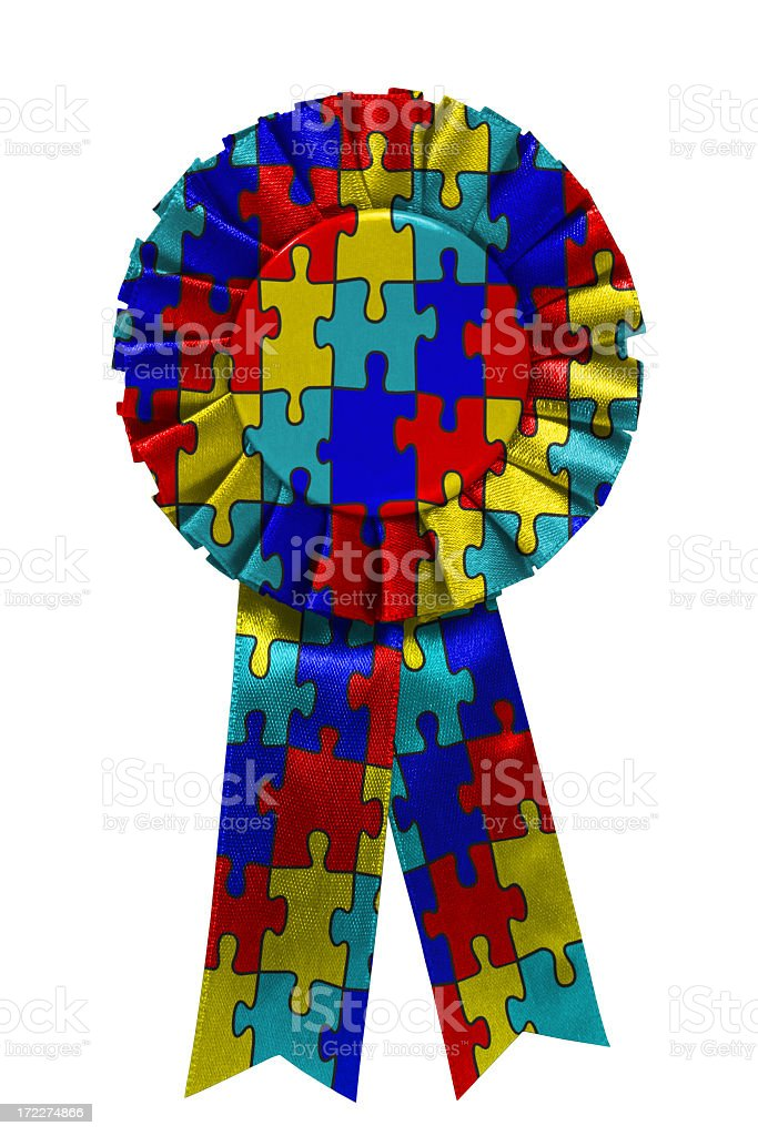 Autism awareness ribbon royalty-free stock photo