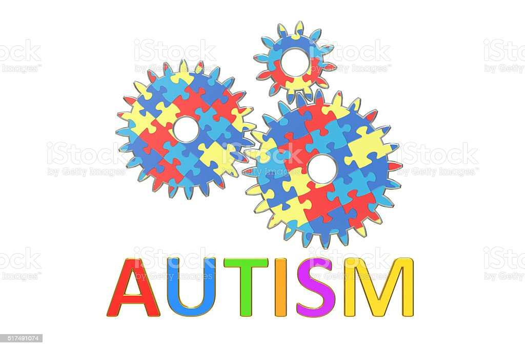 Autism concept, 3D rendering stock photo