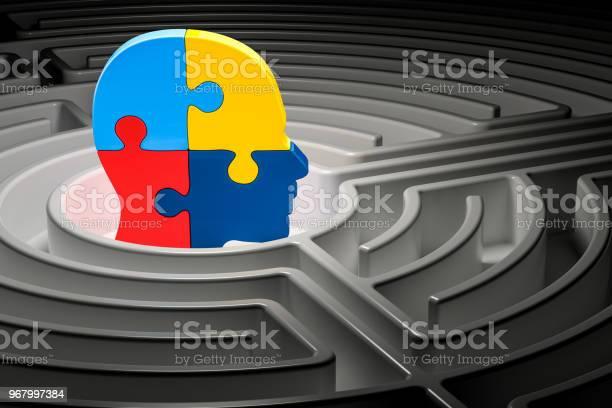Autism concept human head from puzzles at center of a maze 3d picture id967997384?b=1&k=6&m=967997384&s=612x612&h=5l  8rpqqpbjudi mqnr7lnhxx2kmmyd3kyviqq1g 8=