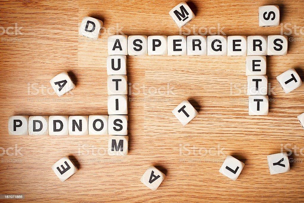 Autism Crosswords royalty-free stock photo
