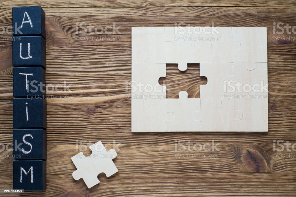 Autism Spectrum Disorder (ASD).  Autism awareness. stock photo