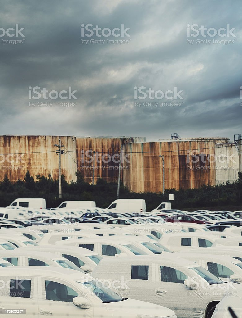 Auto and Oil Industry royalty-free stock photo