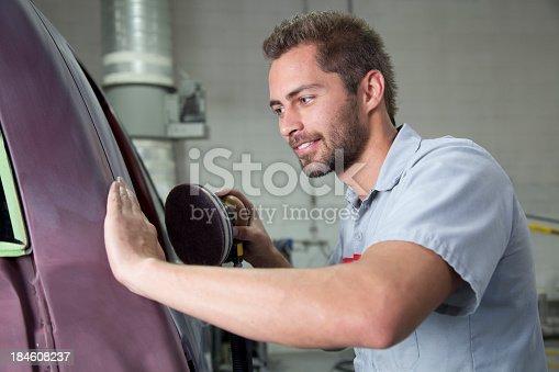 istock Auto Body Repair Shop 184608237