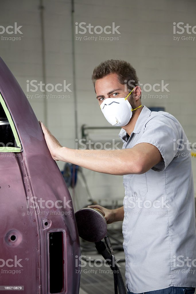 Auto Body Repair Shop stock photo