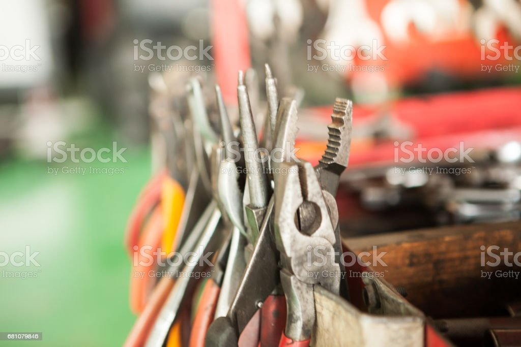 Auto Body Repair Tools royalty-free stock photo